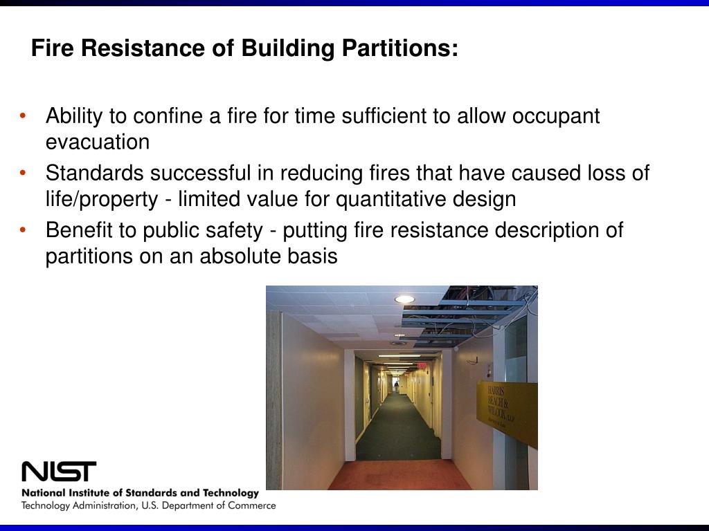 Fire Resistance of Building Partitions:
