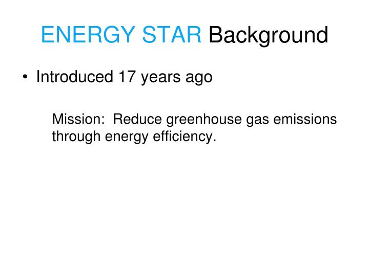 Energy star background