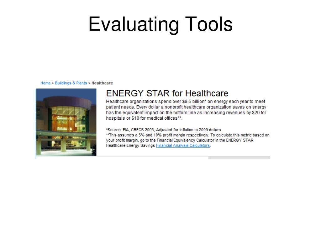 Evaluating Tools
