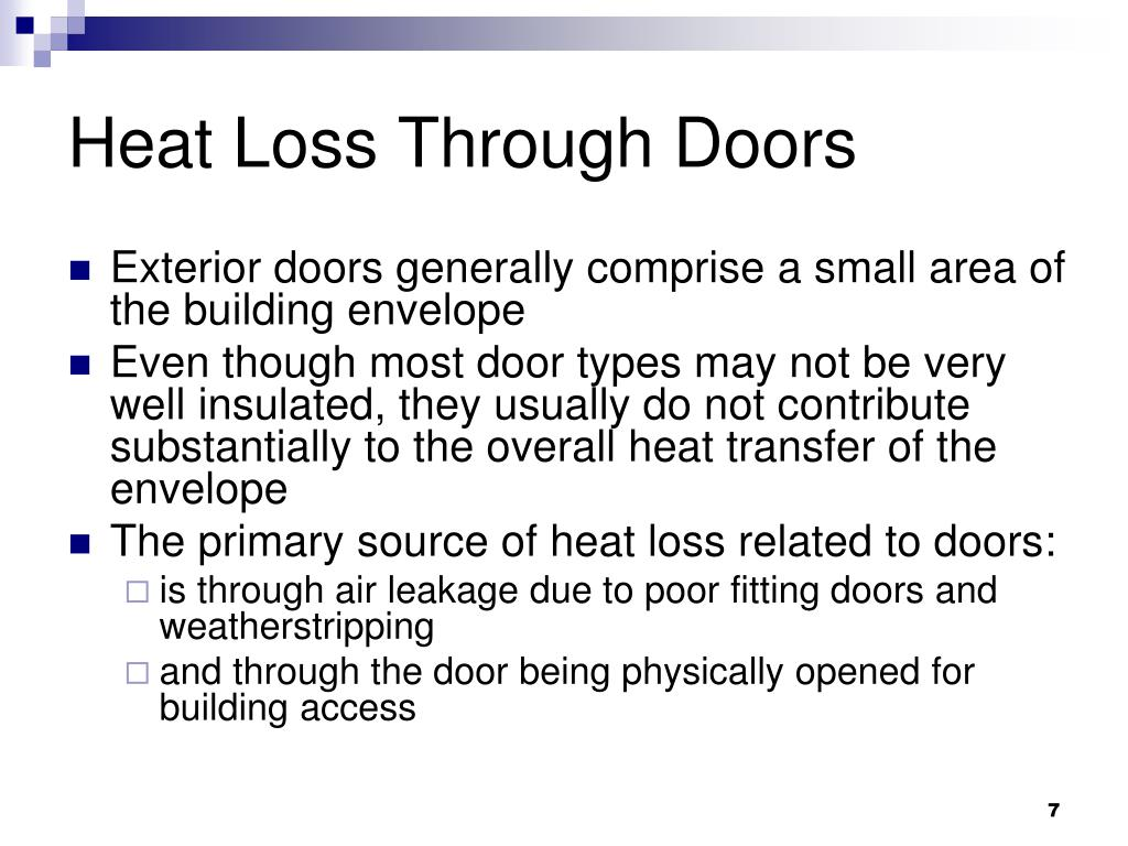 Heat Loss Through Doors