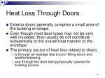 heat loss through doors