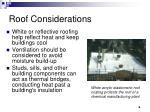 roof considerations
