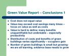 green value report conclusions 1
