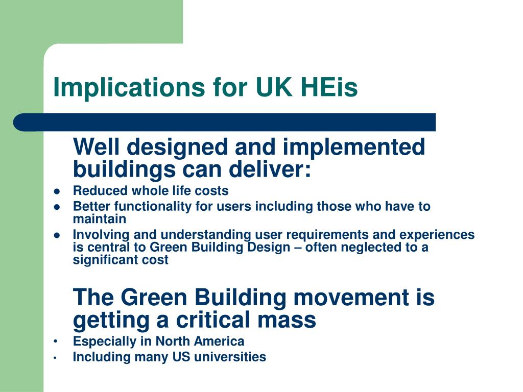 Implications for UK HEis