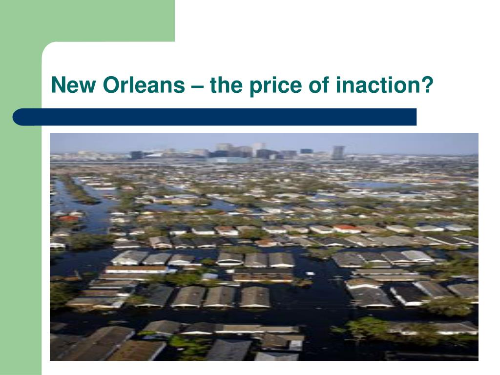 New Orleans – the price of inaction?