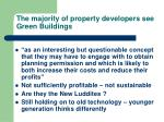 the majority of property developers see green buildings
