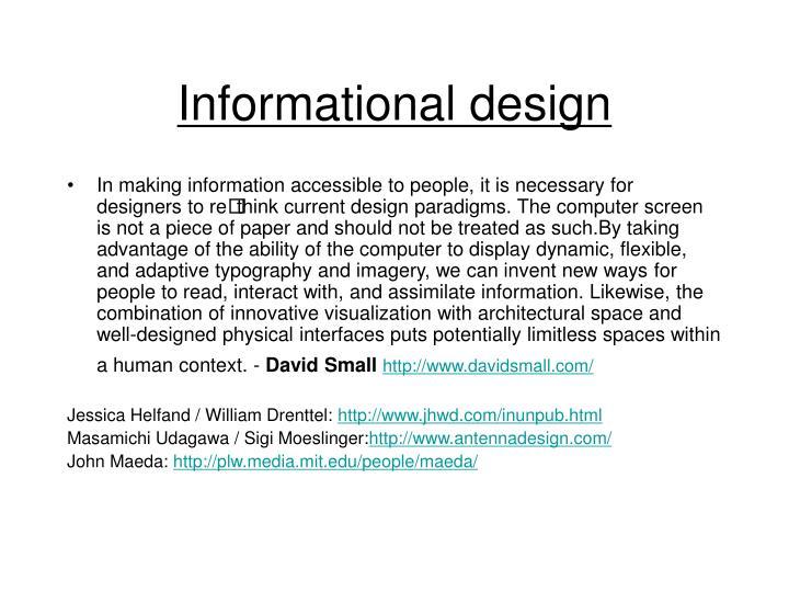 Informational design