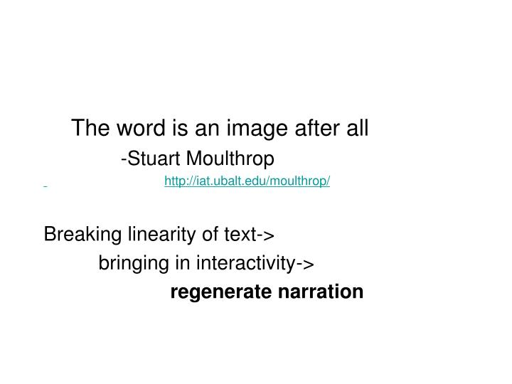 The word is an image after all