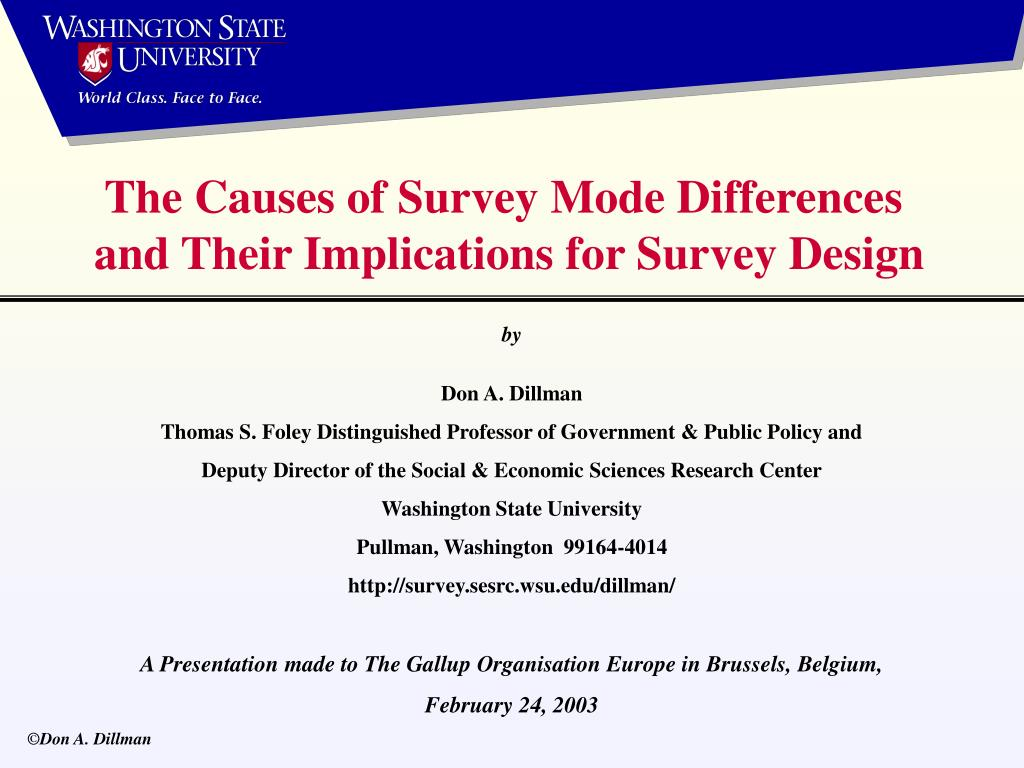 The Causes of Survey Mode Differences