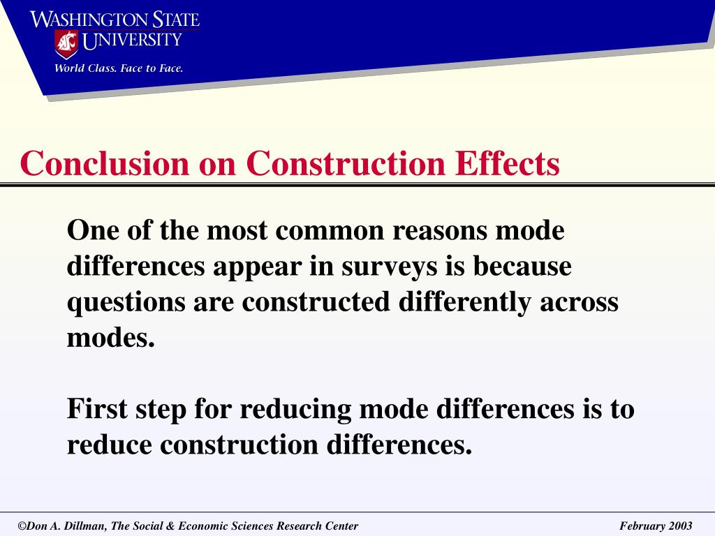 Conclusion on Construction Effects
