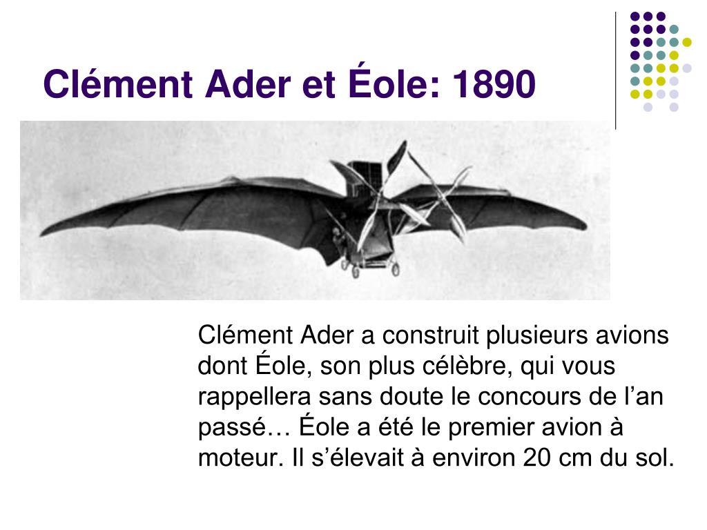 Clément Ader et Éole: 1890