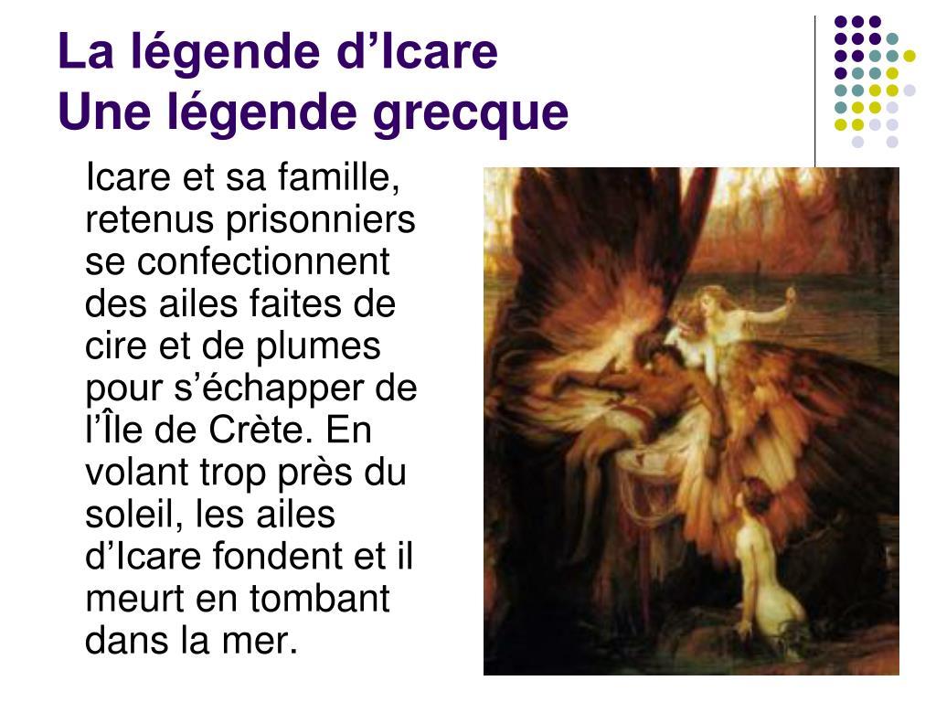 La légende d'Icare