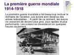 la premi re guerre mondiale 1914 1918