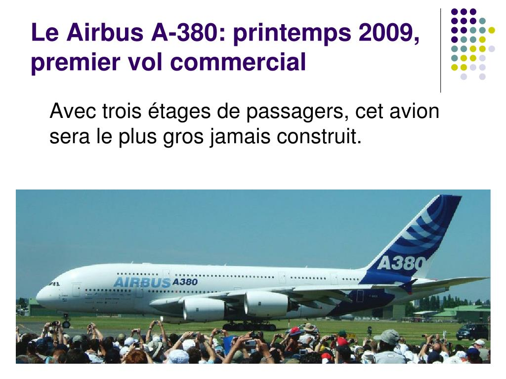 Le Airbus A-380: printemps 2009,