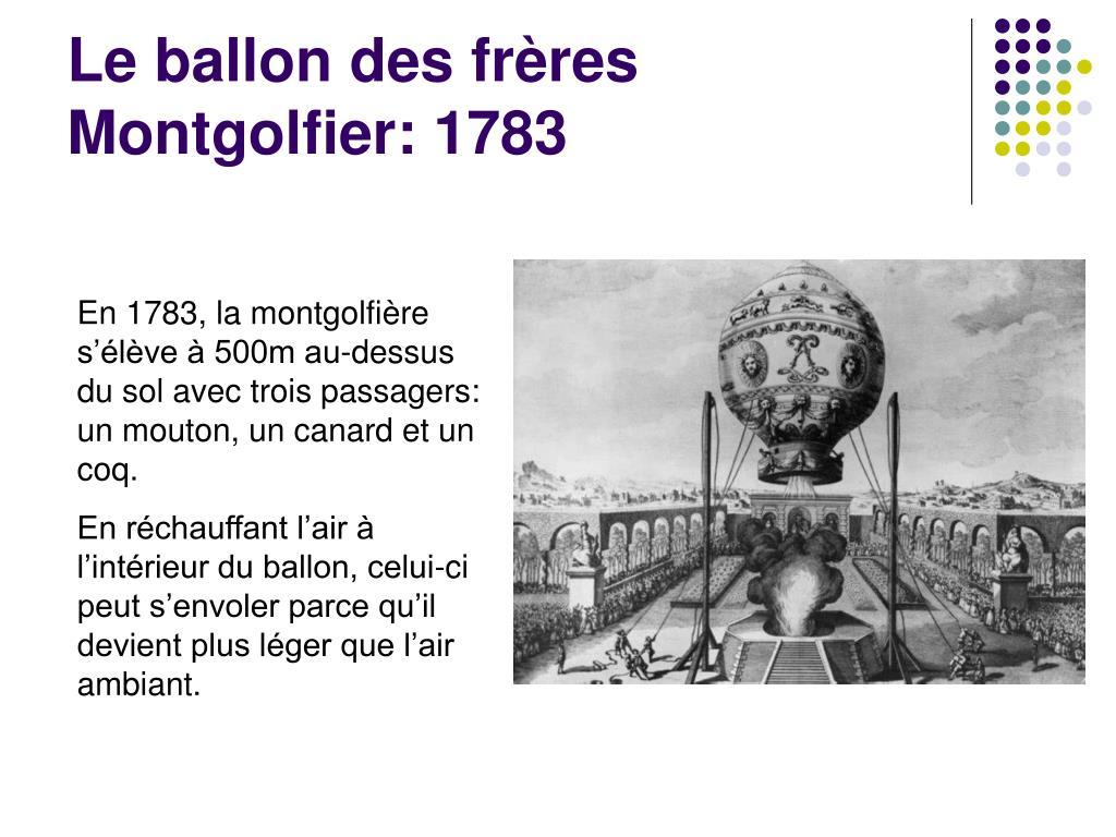 Le ballon des frères Montgolfier: 1783