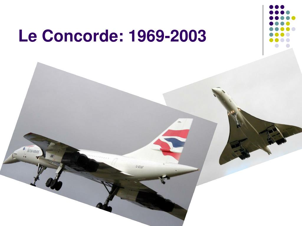 Le Concorde: 1969-2003