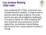 les ann es boeing 1930 1940