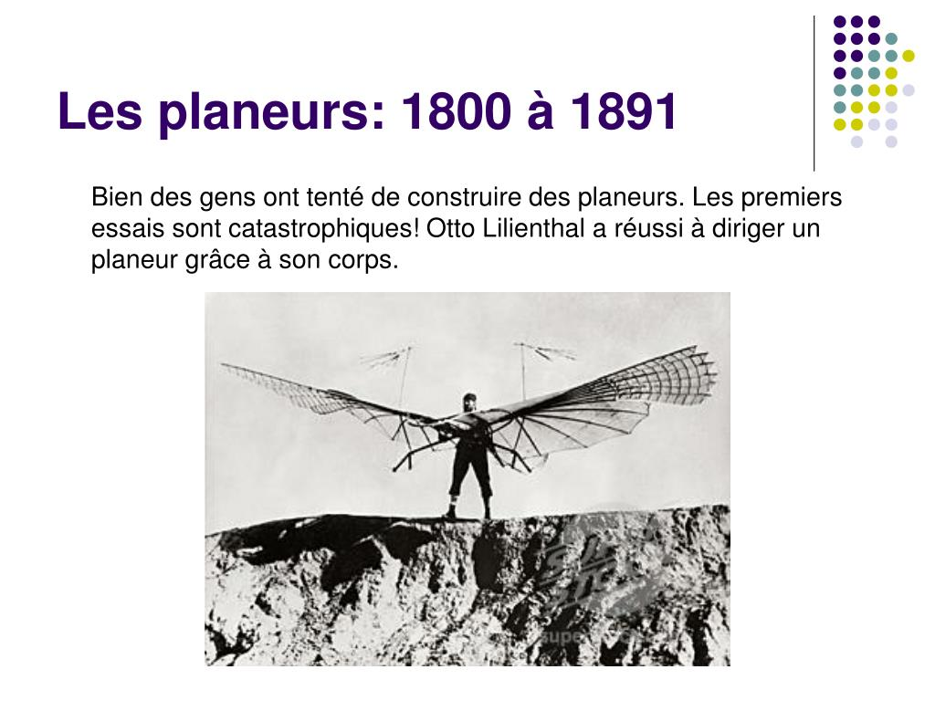 Les planeurs: 1800 à 1891