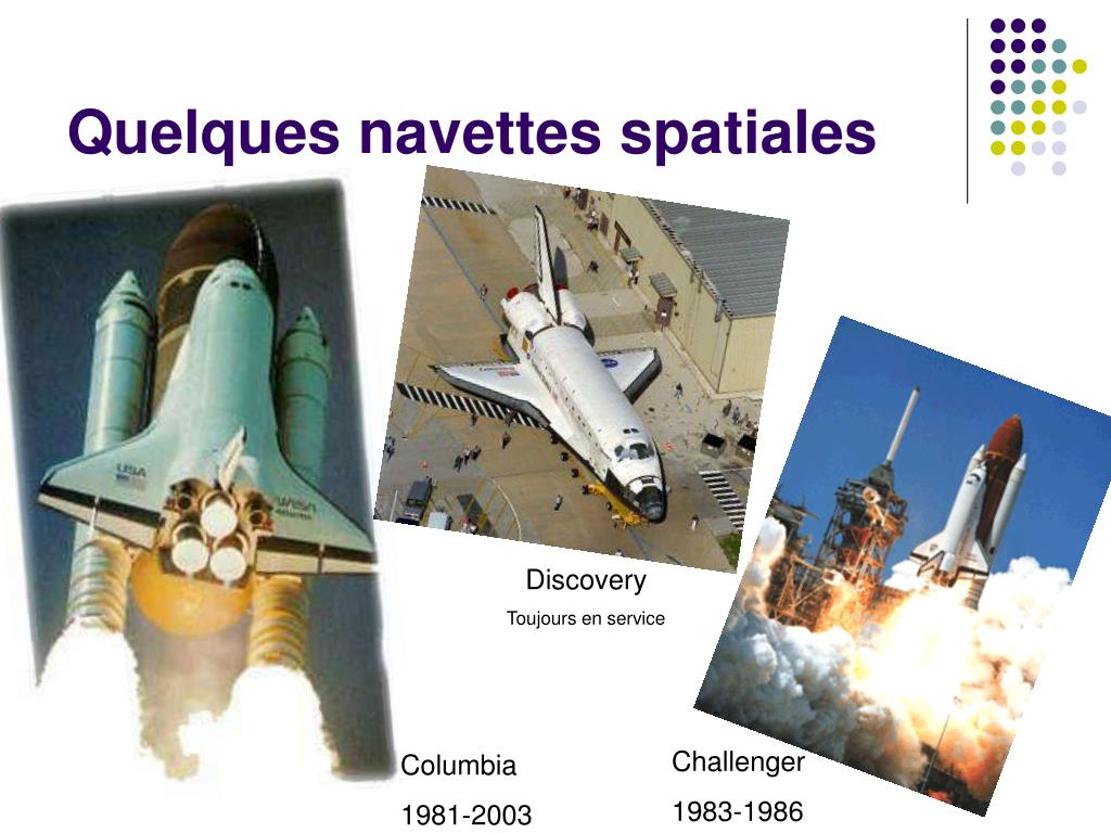 Quelques navettes spatiales