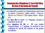 contenu des chapitres 2 3 et 4 du titre iii livre ii du code du travail
