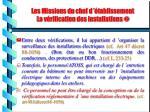 les missions du chef d tablissement la v rification des installations12