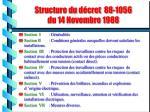 structure du d cret 88 1056 du 14 novembre 1988