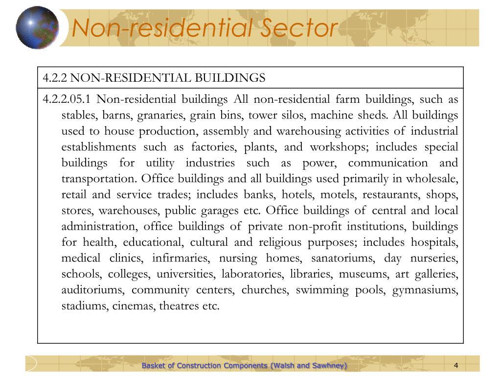 Non-residential Sector