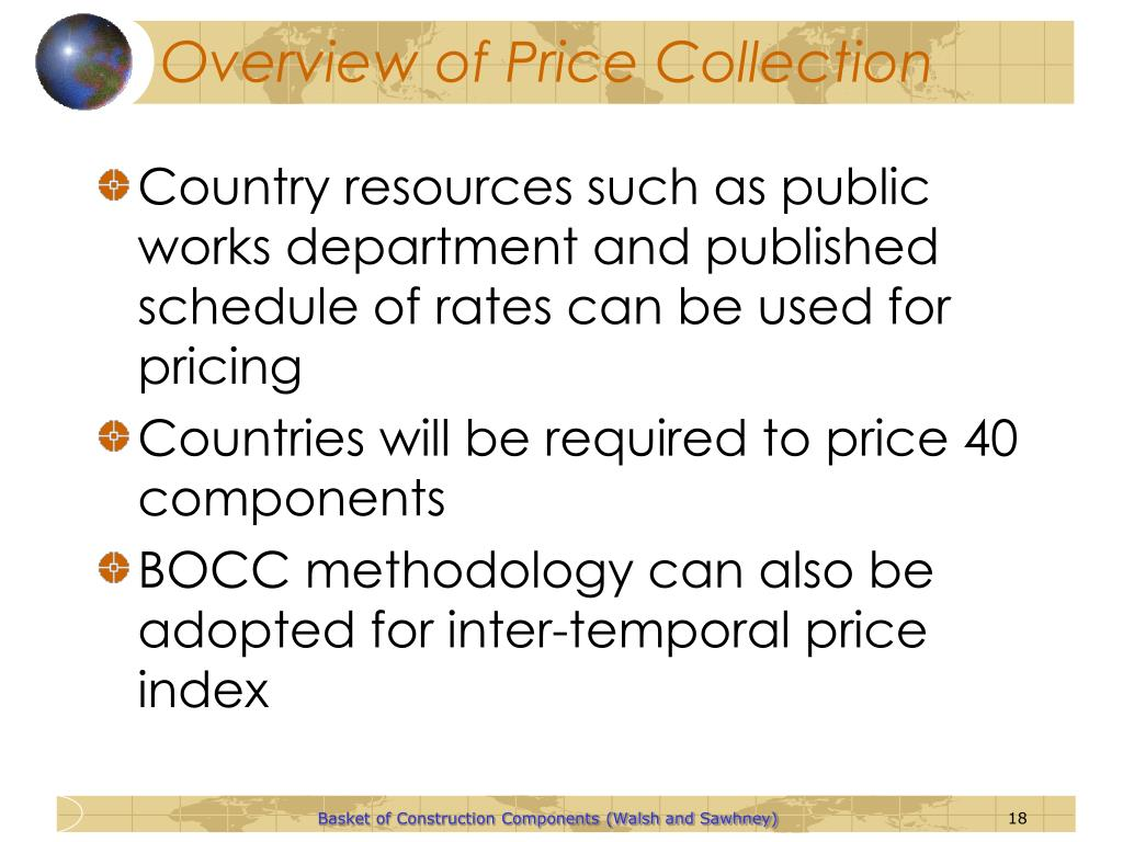 Overview of Price Collection