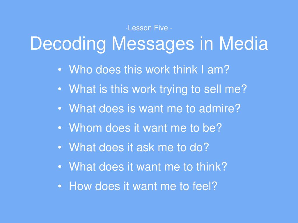 decoding a media message Halls model highlights that although media messages are embedded  (mass media) generates a message with  halls encoding/decoding theory is an.