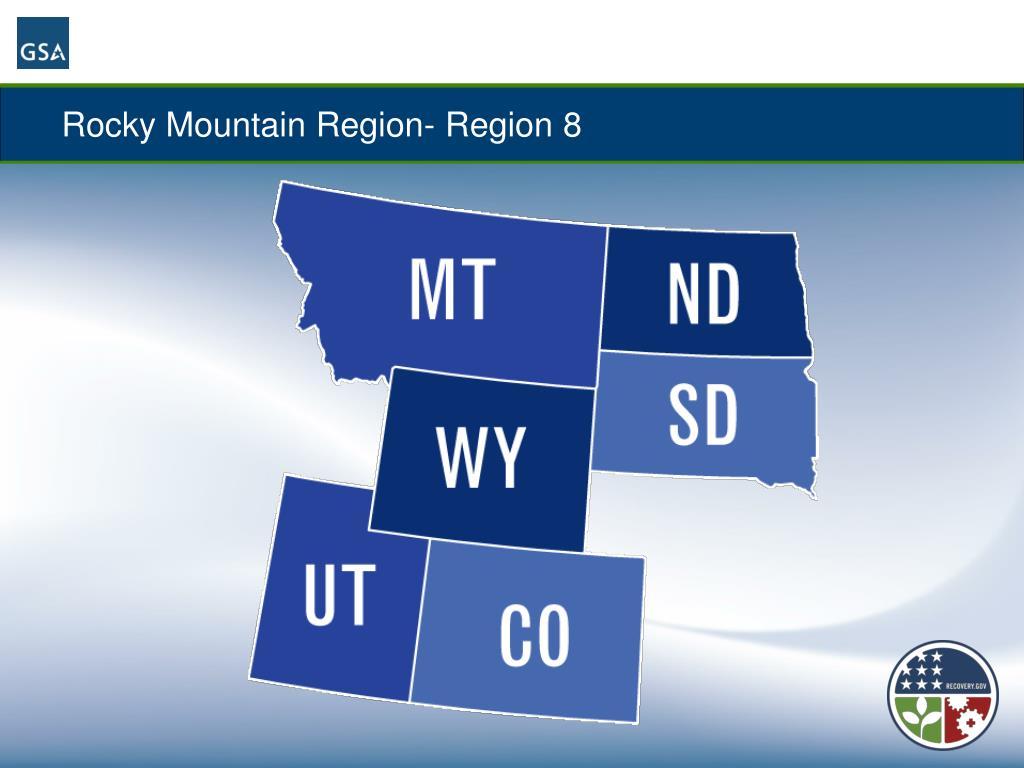 Rocky Mountain Region- Region 8