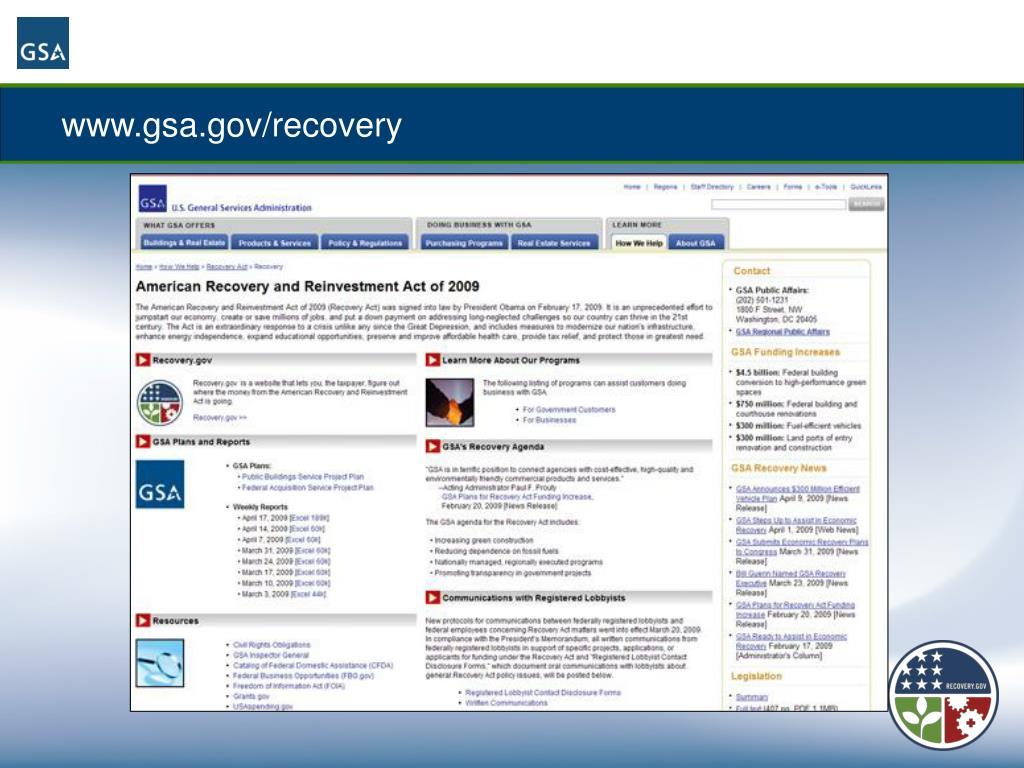 www.gsa.gov/recovery