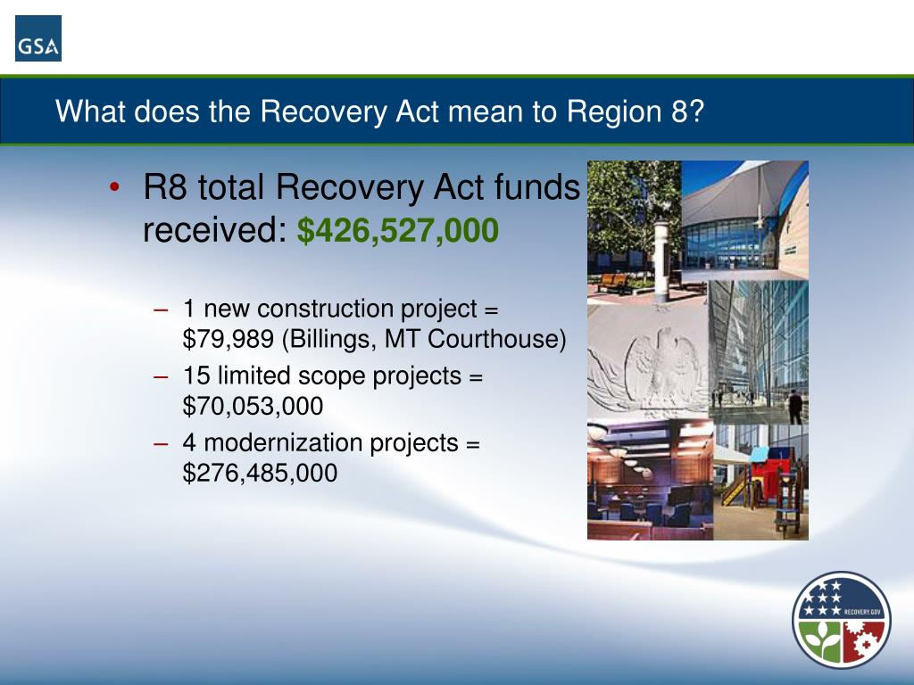 What does the Recovery Act mean to Region 8?
