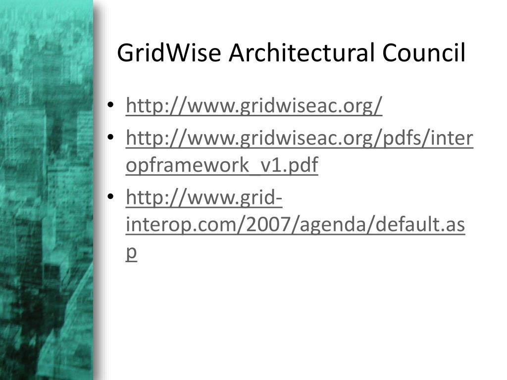 GridWise Architectural Council