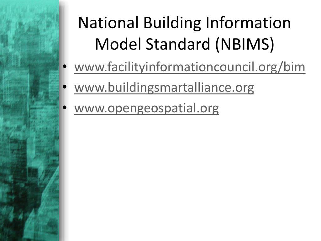 National Building Information Model Standard (NBIMS)