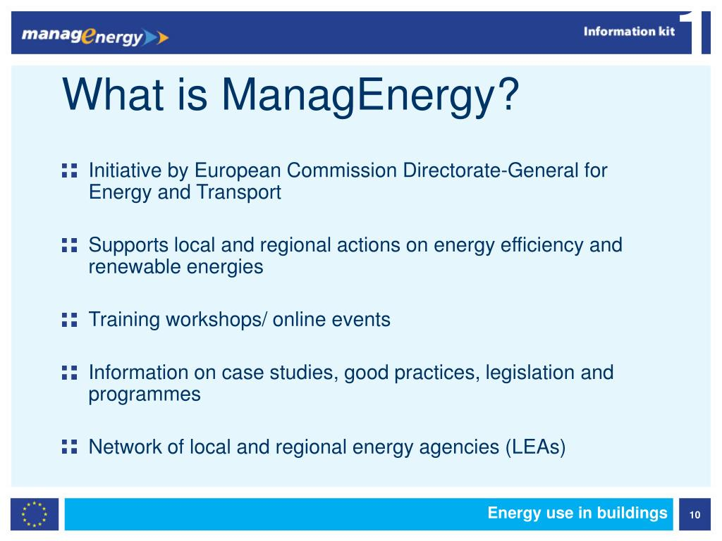 What is ManagEnergy?