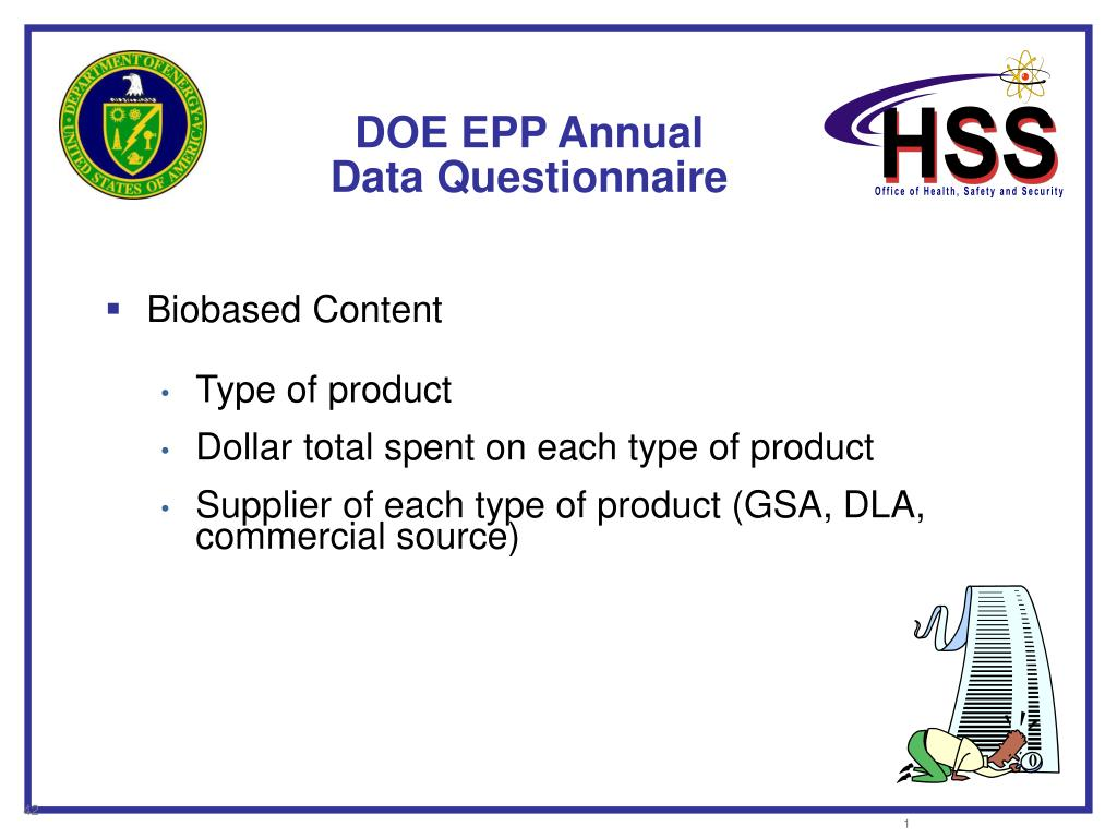 DOE EPP Annual Data Questionnaire
