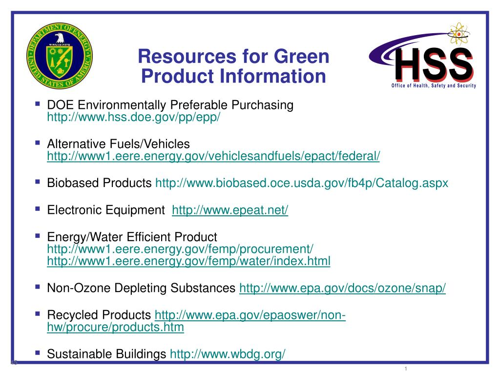 Resources for Green Product Information