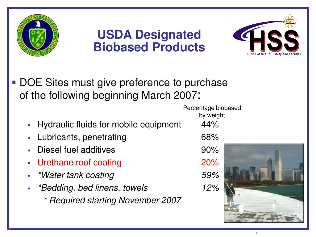 USDA Designated Biobased Products