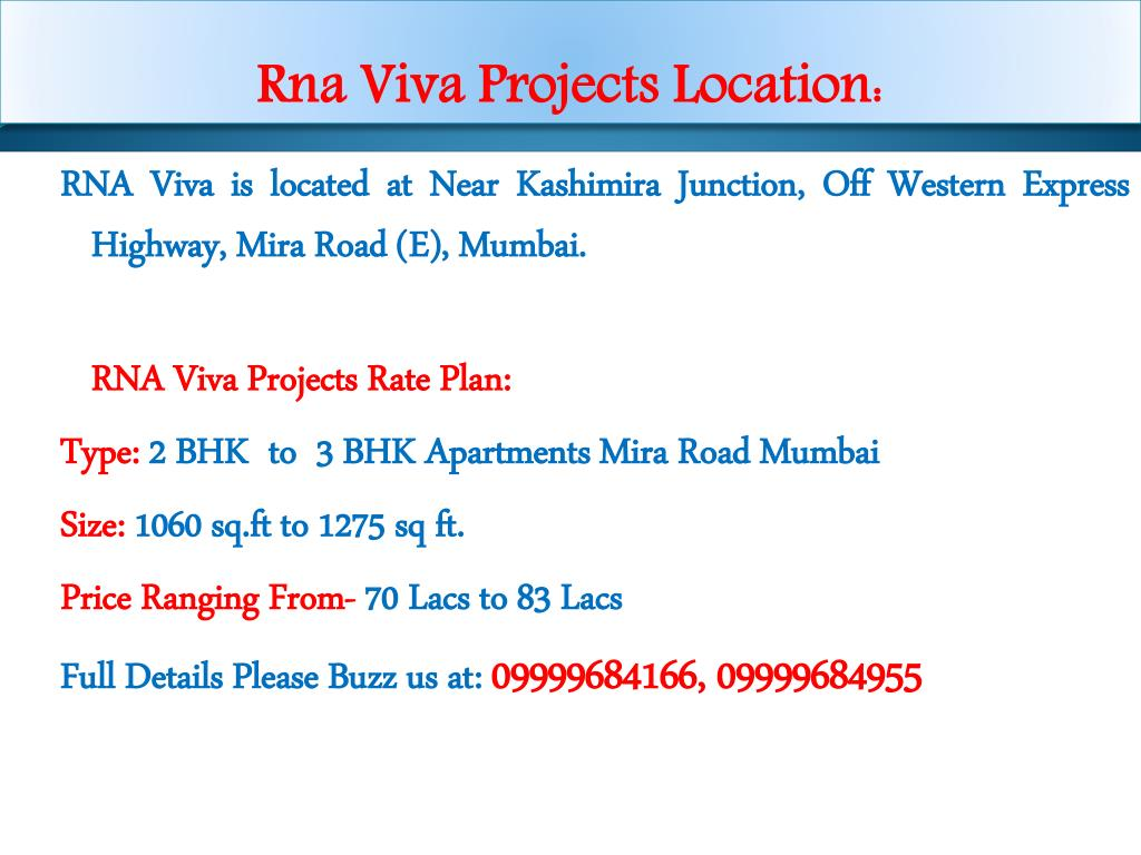 Rna Viva Projects Location: