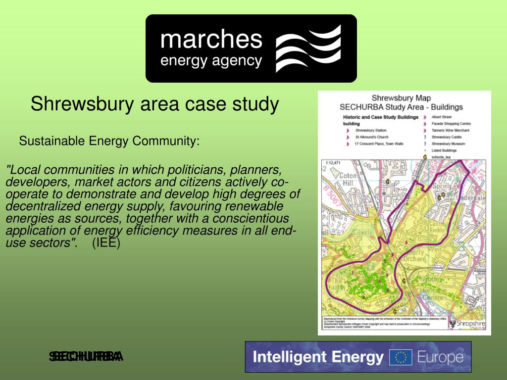 Shrewsbury area case study