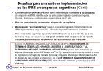 desaf os para una exitosa implementaci n de las ifrs en empresas argentinas cont