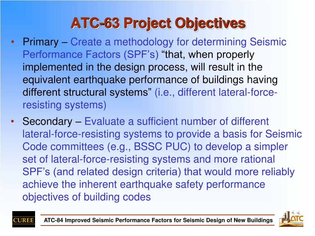 ATC-63 Project Objectives