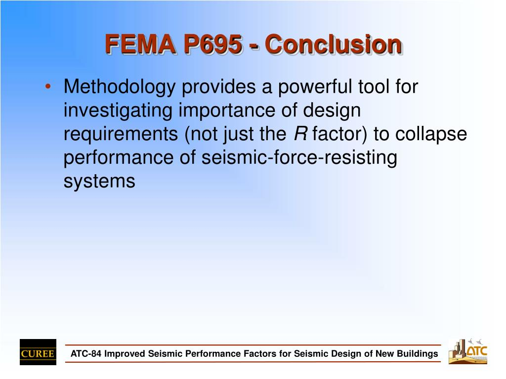 FEMA P695 - Conclusion