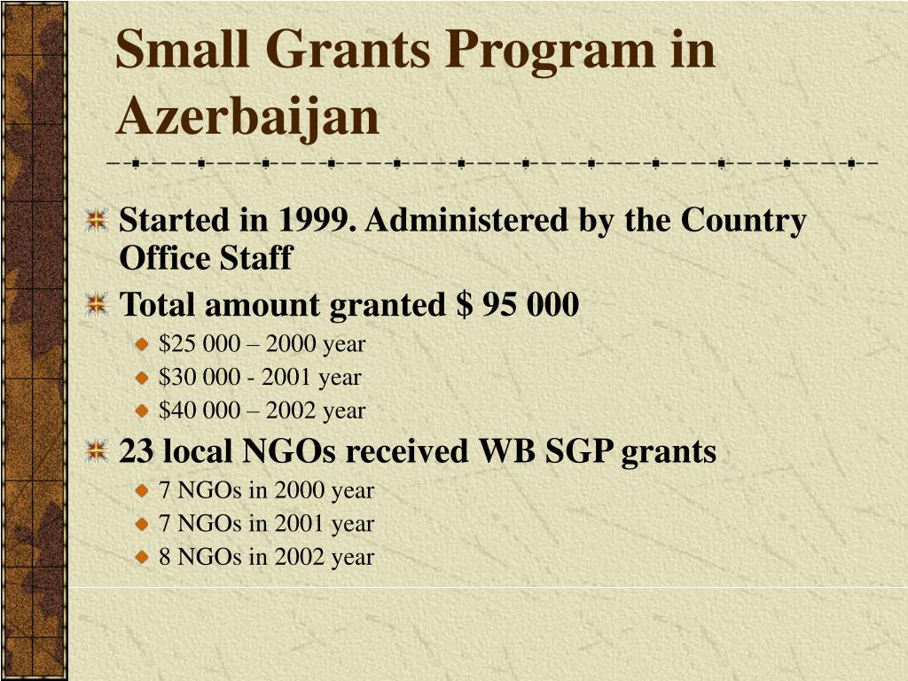 Small Grants Program in Azerbaijan