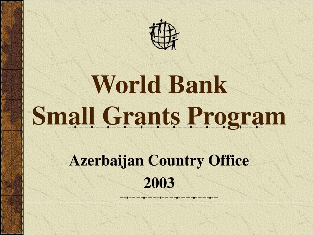 world bank small grants program