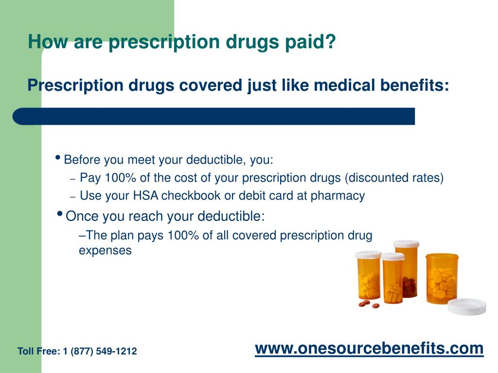 How are prescription drugs paid?