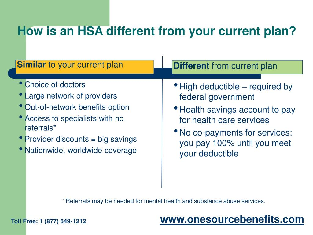 How is an HSA different from your current plan?