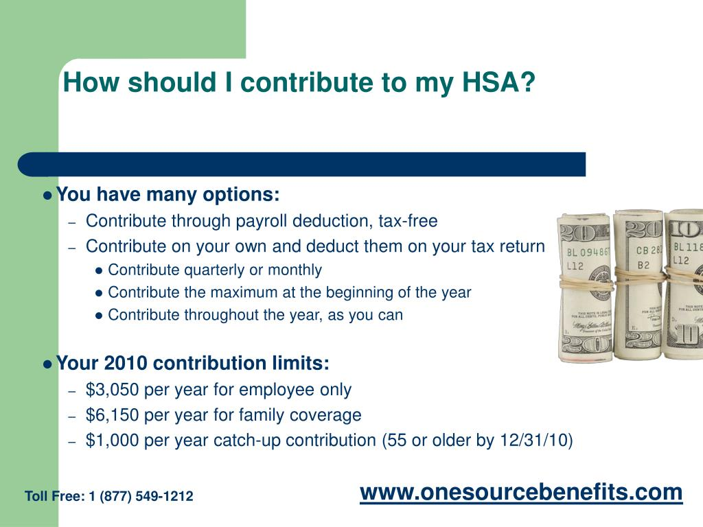 How should I contribute to my HSA?