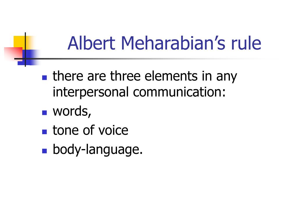 Albert Meharabian's rule