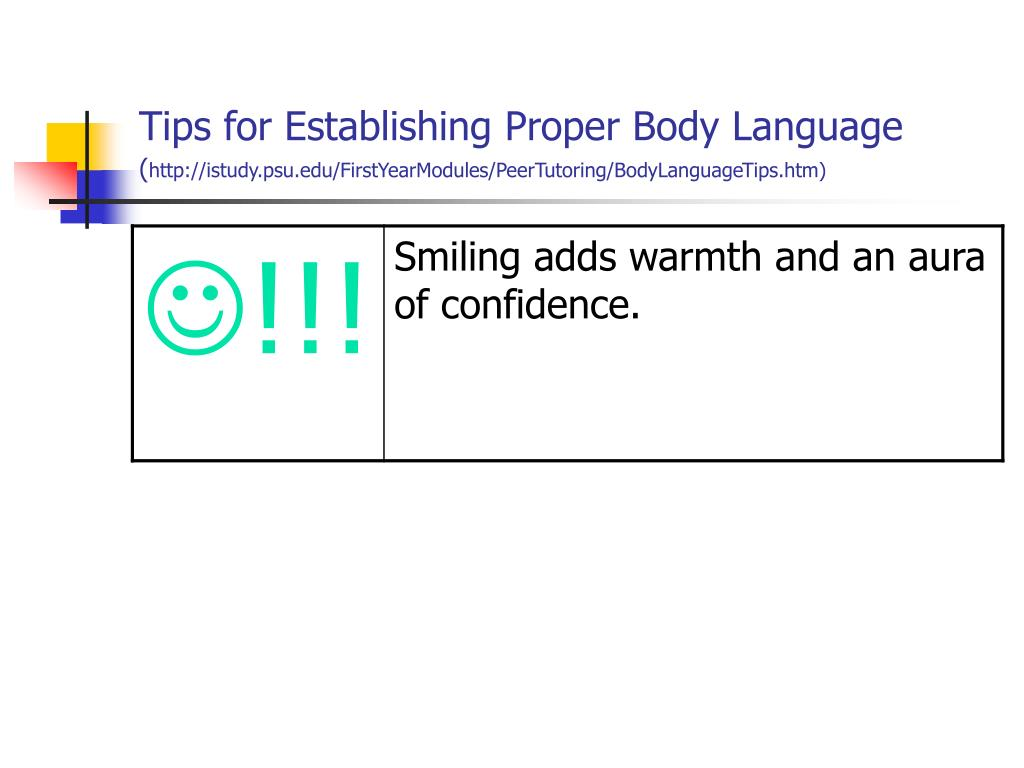Tips for Establishing Proper Body Language